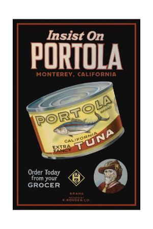Monterey, California - Portola Cannery Label
