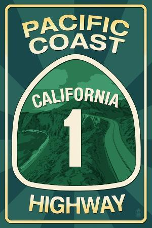 Highway 1, California - Pacific Coast Highway Sign