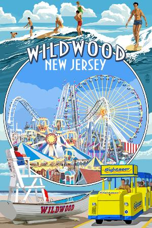 Wildwood, New Jersey - Montage