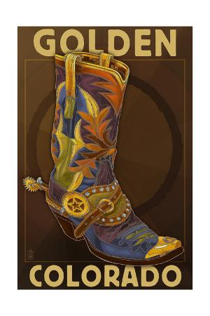 Golden, Colordao - Cowboy Boot