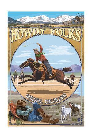 Golden, Colorado - Cowboy Montage