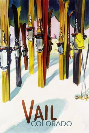 Vail, CO - Colorful Skis