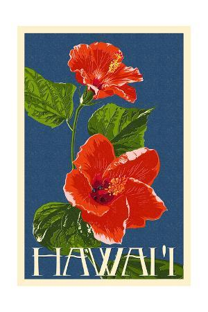 Hawaii - Red Hibiscus Flower