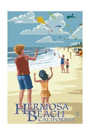 Hermosa Beach, California - Kite Flyers