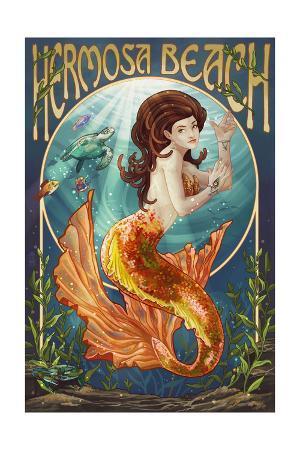 Hermosa Beach, California - Mermaid