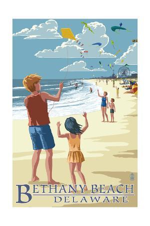 Bethany Beach, Delaware - Kite Flyers