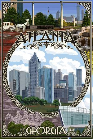 Atlanta, Georgia - Montage (No Flowers)