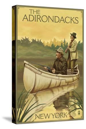 The Adirondacks, New York - Hunters in Canoe