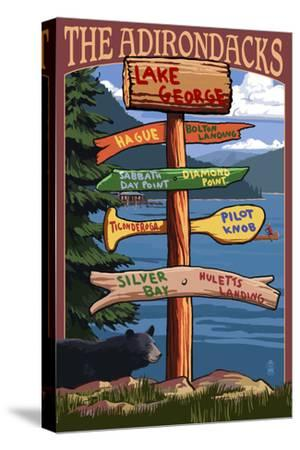 The Adirondacks - Lake George, New York - Sign Destinations