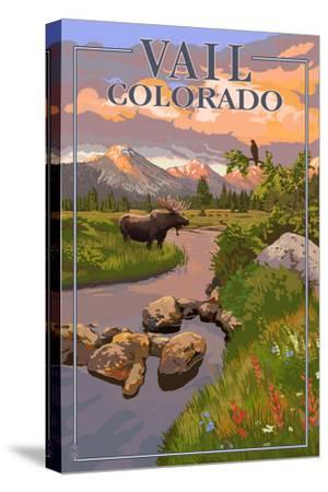 Vail, Colorado - Moose and Meadow Scene