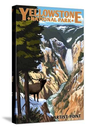 Yellowstone National Park - Artist Point and Elk