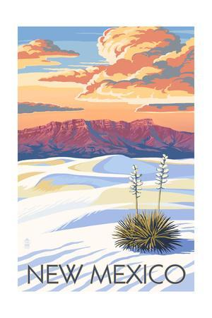 New Mexico - White Sands Sunset