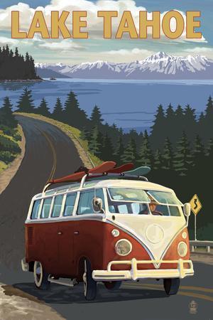 Lake Tahoe - VW Van and Lake