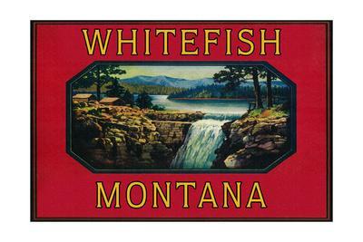 Whitefish Montana - Orange Label