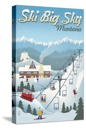 Big Sky, Montana - Retro Ski Resort