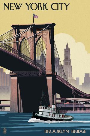 New York City, New York - Brooklyn Bridge