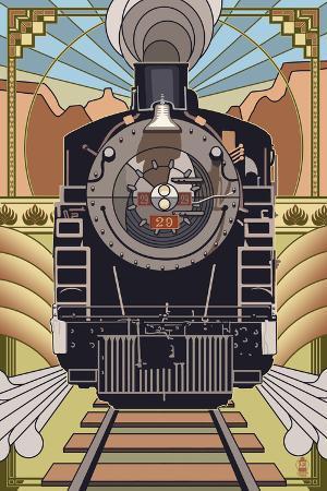 Steam Locomotive - Deco Style