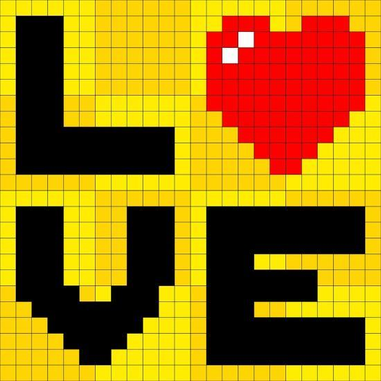 Pixel Love Heart Prints By Wongstock At Allposters Com