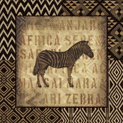 African Wild Zebra Border