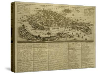 Map of Venice, Published by H. Chatelain in Amsterdam, 1728