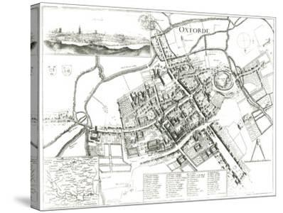 Map of Oxford, 1643