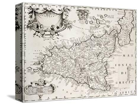 graphic about Printable Map of Sicily named An Aged Map Of Sicily, The Initial Was Crafted Through V
