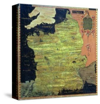 """Map of Sixteenth Century France, from the """"Sala Delle Carte Geografiche"""""""
