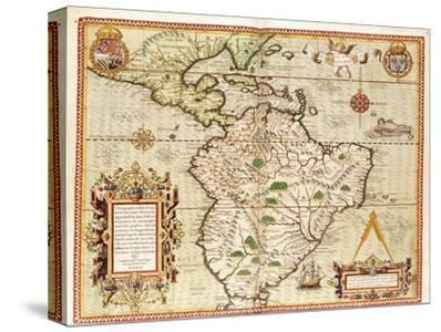 """Map of Central and South America, from """"Americae Tertia Pars.."""", 1562"""