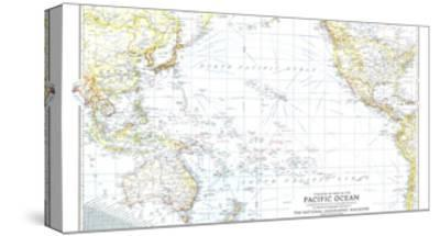 1942 Theater of War in the Pacific Ocean Map