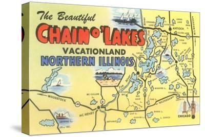 Map of Chain O'Lakes, Illinois