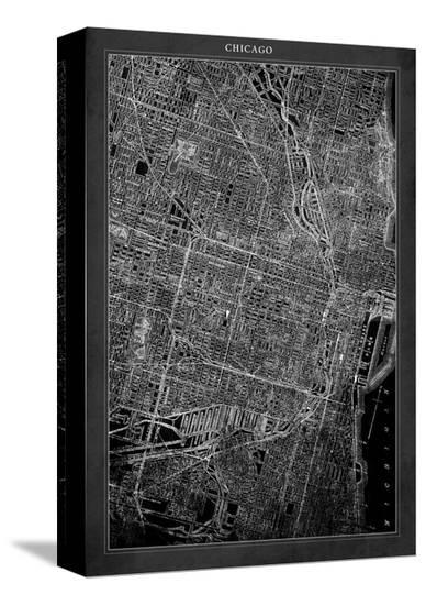 Chicago Map Canvas.Chicago Map Stretched Canvas Print By Gi Artlab At Allposters Com