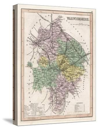 Map of Warwickshire