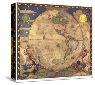 1929 Map of Discovery, Western Hemisphere