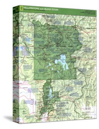 1989 Yellowstone and Grand Teton Map Side 1