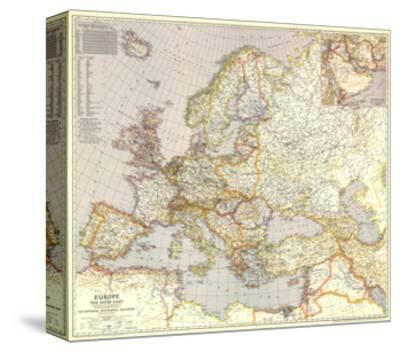 1943 Europe, and the Near East Map