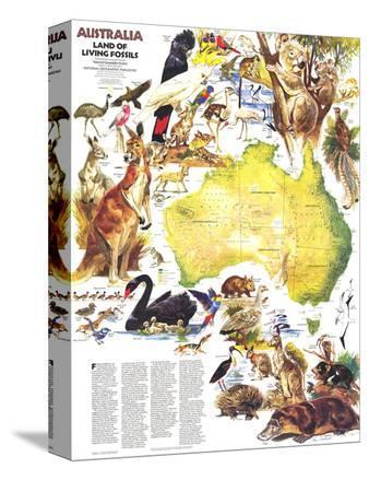 1979 Australia, Land of Living Fossils Map