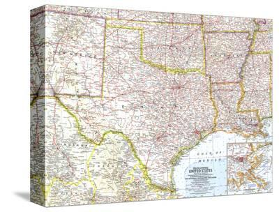 1961 South Central United States Map