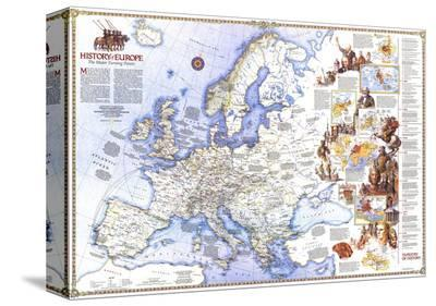 1983 History of Europe, the Major Turning Points Map
