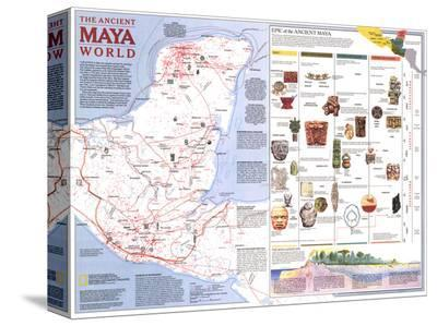 1989 Ancient Maya World Map