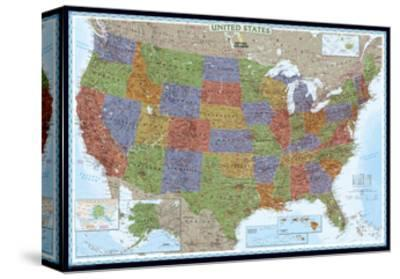 United States Political Map, Decorator Style