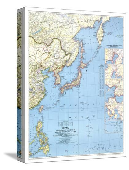 1944 Japan and Adjacent Regions of Asia and the Pacific Ocean Map