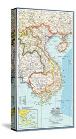 1965 Vietnam, Cambodia, Laos and Eastern Thailand Map
