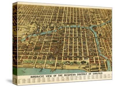 Chicago, Illinois - Panoramic Map