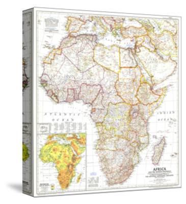 1950 Africa and the Arabian Peninsula Map