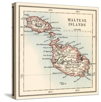 Map of the Maltese Islands, 1870s