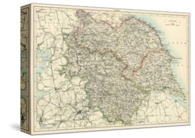 Map of Yorkshire, England, 1870s