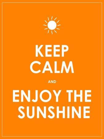 Special Summer Keep Calm Modern Motivational Background
