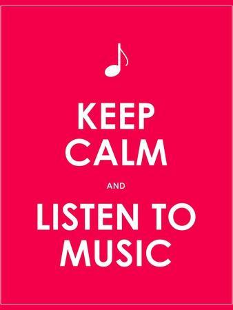 Keep Calm and Listen to Music,Vector Background,Eps10