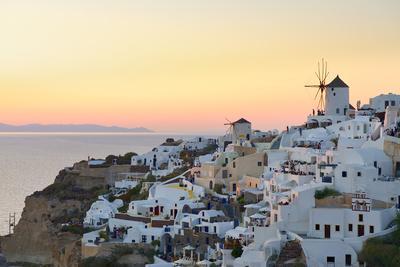 Sunset in Oia, Santorini, Cyclades, Greeced