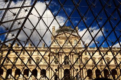 Patterns of the Louvre Museum During the Day in Paris, France